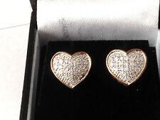 9 Carat Stud Yellow Gold Good Cut Fine Diamond Earrings