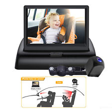 """Car Baby Monitor with Camera Back Seat Rear Facing View Infant 4.3"""" Foldable Kit"""