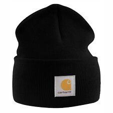 Carhartt ACRYLIC WATCH HAT chapeau bonnet, noir, bonnet tricoté, casquette, A18