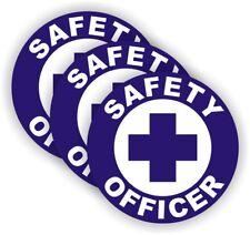 SAFETY OFFICER Hard Hat Stickers | Helmet Decals Labels Badges Foreman Laborer