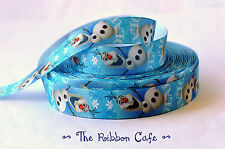Frozen Olaf vertical pattern 22mm wide printed grosgrain ribbon high quality