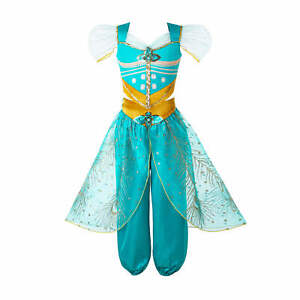 Kids Girls Princess Costume Sequin Cosplay Party Fancy Dress