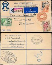 GOLD COAST ABAKRAMPA REGISTERED STATIONERY AIRMAIL to SCOTLAND 1955
