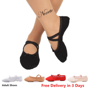 Adult  Nexete Ballet Dance Yoga Gymnastics  Canvas  Leather Slipper Shoes