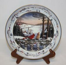 Evening in Pinegrove Collector Plate Sam Timm Bradford Ex Winter Cardinals 1993