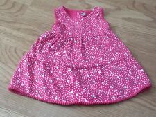 Baby Girls Size 3-6 Months Pink & White Spotty Sundress - Brand New