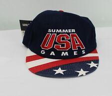 Vtg 90s USA Atlanta Olympics Snapback Hat 1996 Summer Games Starter America Cap