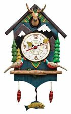 Allen Designs Mountain Time Pendulum Childs Kids Whimsical Wall Clock