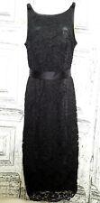 NWT ABS Allen Schwartz Women's Lace Sheath Satin Contrast Dress