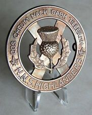 Canadian Army - The North Nova Scotia Highlanders Cap Badge Amherst - N.S.  WWII