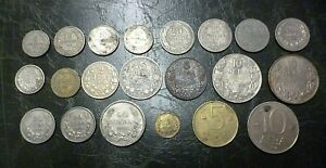 CHEAP & RARE! BULGARIA LOT OF 21 COINS 1888-1992 INCLUDING SILVER AND IRON COINS
