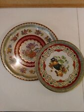 Vintage Daher metal trays platters Made In England - lot of 2