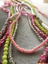 BEAD MIX GLASS MIXED SHAPE/COLOR 4X3MM-13X13MM 5 STRANDS 30 INCH STRANDS