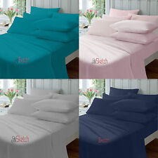 """FITTED PERCALE SINGLE DOUBLE KING SUPER KING SHEETS SIZE 10"""" 26CM,YAW"""