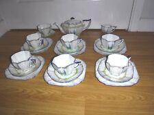 Shelley Tea Set For 6 ~ 11607 ~ My Garden ~ Teapot 6 Trios Milk Jug Sugar Bowl