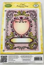 JustRite Rubber Stamp Set Cupid Large Background Craft Clearout Heart Flourish