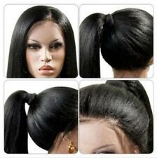 "24"" Women's Straight Synthetic Lace Front Wigs Heat Reaiatant Hair Black Wigs"