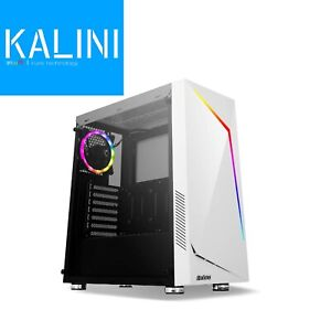 Antec NX300 ATX Gaming Case with Window, White, Tempered Glass, ARGB Rear Fan