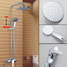 Chrome Brass Shower System Unit Rainfall Shower Head Handheld Control Mixer Tap