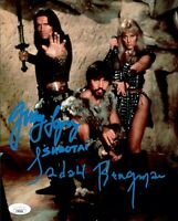 SANDAHL BERGMAN & GERRY LOPEZ Signed CONAN THE BARBARIAN 8x10 Photo JSA COA Cert