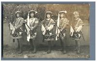 France, Théâtre - Costumes  Vintage silver print. Postcard paper  Tirage a