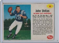 1962 Post #90 Johnny Unitas Baltimore Colts Vintage Football Card HOF