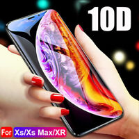 1/2/3 Pack 10D Tempered Glass Screen Protector Film Cover For iPhone X XS Max XR