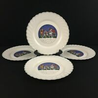 Set of 4 VTG Dinner Plates by Arcopal Holiday Village Christmas Winter France