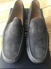 Ralph Lauren Purple Label Ronan Charcoal Gray Suede Calf Leather Loafers 10 D