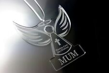 Remembrance Angel 'MUM'  - Christmas Tree Decoration, Memory Bauble, Engraved