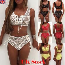 New Womens Lace Tie Push-up Bikini Set Swimsuit Bathing Suit Swimwear Beachwear