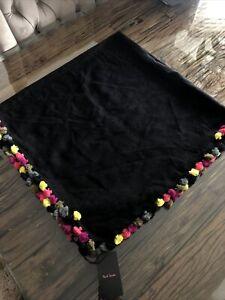 Damen Paul Smith Bommel Quadrat Schal Stola-NEU-UVP £ 110