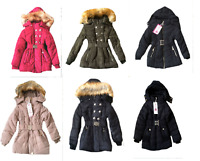 GIRLS PADDED WINTER COAT WITH HOOD BLACK SIZE 4, 6, 8, 10, 12 & 14 YEARS