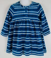 Hanna Andersson Velour Day Play Dress Tapestry Blue NWT
