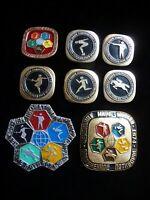 Set of 8 USSR Badge Sport Modern Pentathlon World Championship Competition 1974