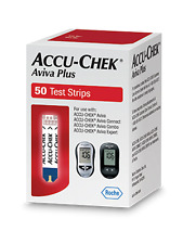 Accu-Chek Aviva Plus Test Strips, 50 Count EXP 8-2018 FREE PRIORITY SHIPPING