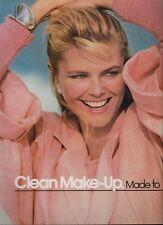 1985 COVER GIRL & CHRISTIE BRINKLEY   : Make up  Magazine  PRINT  AD (2-pg)