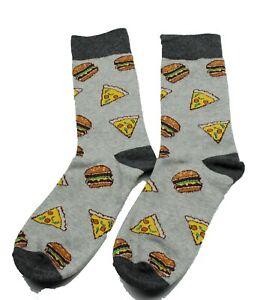 Men Women High Quality Cotton Pizza & Hamburger Food Funny Socks One Size