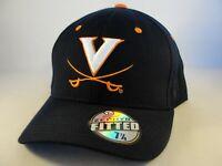 Virginia Cavaliers NCAA Zephyr Fitted Hat Cap Size 7 7/8 Navy