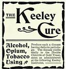 1895 Keeley Cure ALCOHOL OPIUM TOBACCO Quack Cure Original PRINT Paper Ad 3442