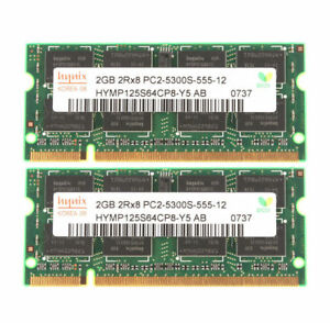 Memory Ram Laptop DDR2 PC2 5300S 667 MHz SODIMM  2x lot GB VARIOUS BRAND
