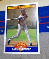 1989 Score #625 Gary Sheffield RC Pristine RARE Brewers
