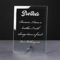 Personalised Engraved Glass Plaque Brother Gift PEG-BRO