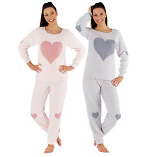 Selena Secrets Women's Victoria Heart Fleece Twosie Pyjamas