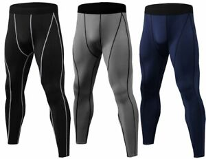 Kompressions Hose Laufhose Leggins Leggings Tights lang Herren Sport Fitness