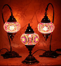 multicolour turkish moroccan style mosaic table lamp lampshade 3 pcs set
