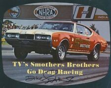 Dick Smothers signed Smothers Brothers Olds 442 Drag Racing NHRA 8x10 Photo