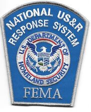 "Federal - National U.S.A.R. / F.E.M.A. Response  (4"" x 4.75"" size) fire patch"