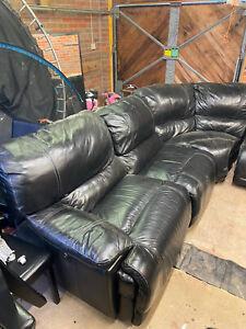 corner leather sofa used