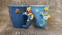 2 Highly Collectible Vintage 3D Winnie The Pooh Mugs Pair Disney Store
